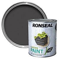 Ronseal Garden Charcoal grey Matt Metal & wood paint, 0.75L