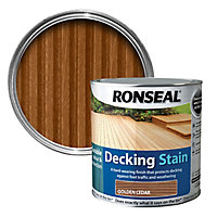 Ronseal Golden cedar Matt Decking Wood stain, 5L