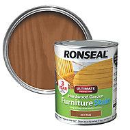 Ronseal Hardwood Rich teak Furniture Wood stain, 750ml
