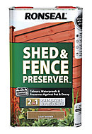 Ronseal Light brown Matt Fence & shed Preserver 5L