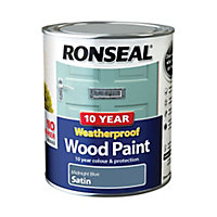 Ronseal Midnight blue Satin Wood paint, 0.75