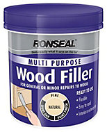 Ronseal Multi purpose Natural Ready mixed Wood Filler 250g