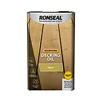 Ronseal Natural Matt Decking Wood oil, 5L