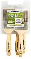 Ronseal Precision finish Fine tip Paint brush, Pack of 5