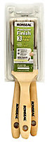 Ronseal Precision finish Fine tip Paint brush, Pack of