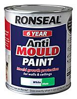 Ronseal Problem wall White Matt Anti-mould paint, 0.75L