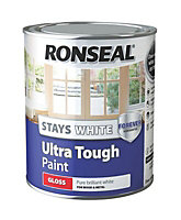 Ronseal Pure brilliant white Gloss Metal & wood paint, 0.75L