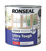 Ronseal Pure brilliant white Gloss Metal & wood paint, 2.5L