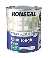 Ronseal Pure brilliant white Matt Metal & wood paint, 0.75L