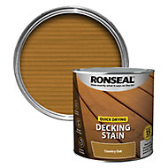 Ronseal Quick-drying Country oak Matt Decking Wood stain, 2.5L