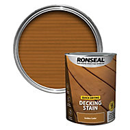 Ronseal Quick-drying Golden cedar Matt Decking Wood stain, 5L