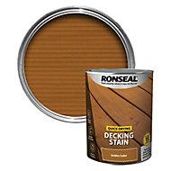 Ronseal Quick-drying Golden cedar Matt Decking Wood stain, 5L