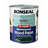 Ronseal Racing green Gloss Wood paint, 0.75