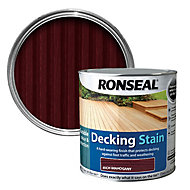 Ronseal Rich mahogany Matt Decking Wood stain, 2.5L