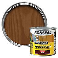Ronseal Teak Gloss Wood stain, 250ml