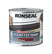 Ronseal Tile red Satin Doorstep paint, 250ml