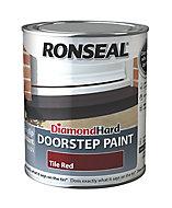 Ronseal Tile red Satin Doorstep paint, 750ml