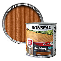 Ronseal Ultimate Cedar Matt Decking Wood stain, 5L