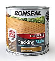 Ronseal Ultimate Country oak Matt Decking Wood stain, 2.5L