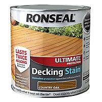Ronseal Ultimate Country oak Matt Decking Wood stain, 5L