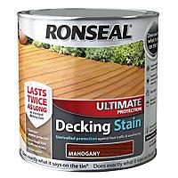 Ronseal Ultimate Mahogany Matt Decking Wood stain, 5L