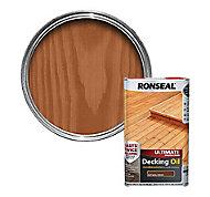 Ronseal Ultimate Natural cedar Decking Wood oil, 5L
