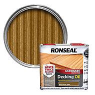 Ronseal Ultimate Natural oak Decking Wood oil, 2.5L