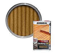 Ronseal Ultimate Natural oak Decking Wood oil, 5L