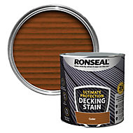 Ronseal Ultimate protection Cedar Matt Decking Wood stain, 2.5L