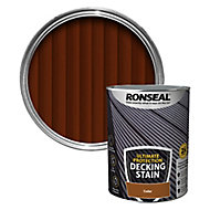 Ronseal Ultimate protection Cedar Matt Decking Wood stain, 5L