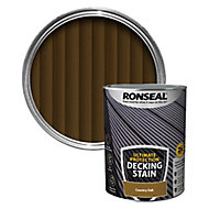 Ronseal Ultimate protection Country oak Matt Decking Wood stain, 5L