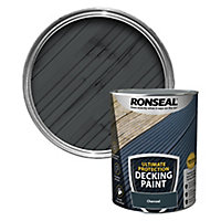 Ronseal Ultimate protection Matt charcoal Decking paint, 5L