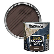 Ronseal Ultimate protection Matt english oak Decking paint, 2.5L
