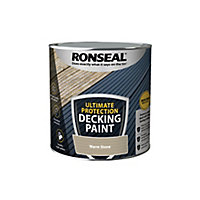 Ronseal Ultimate protection Matt warm stone Decking paint, 2.5L