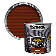 Ronseal Ultimate protection Rich mahogany Matt Decking Wood stain, 2.5L