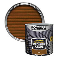 Ronseal Ultimate protection Rich teak Matt Decking Wood stain, 2.5L