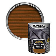 Ronseal Ultimate protection Rich teak Matt Decking Wood stain, 5L