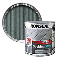 Ronseal Ultimate Stone grey Matt Decking Wood stain, 2.5L