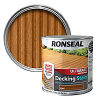 Ronseal Ultimate Teak Matt Decking Wood stain, 2.5L