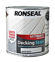 Ronseal Ultimate White wash Matt Decking Wood stain, 2.5
