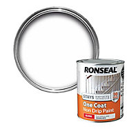 Ronseal White Gloss One coat non drip paint 0.75L