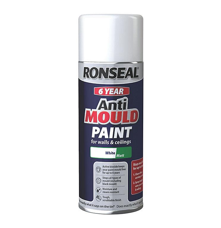Ronseal White Matt Anti Mould Aerosol Diy At B Q