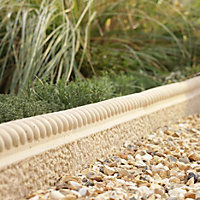 Rope top Rope top Paving edging (H)150mm (T)50mm, Pack of 38
