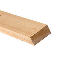 Rough sawn Spruce Timber (L)2.4m (W)100mm (T)47mm, Pack of 4