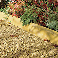 Round top Buff Paving edging (H)150mm (W)600mm (T)50mm, Pack of 48