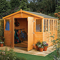 Rowlinson Sheds 9x9 Apex Tongue & groove Wooden Workshop