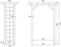 Rowlinson Square top Softwood Arch - Assembly service included