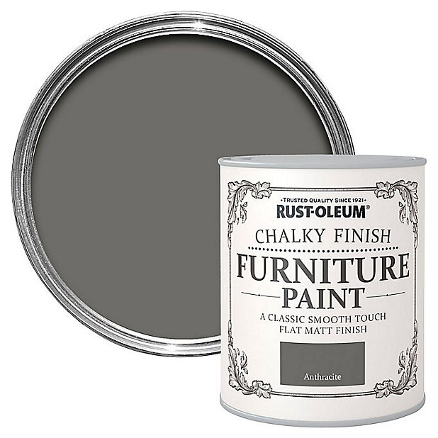 Rust Oleum Anthracite Chalky Effect, Grey Chalky Furniture Paint