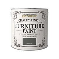 Rust-Oleum Anthracite Flat matt Furniture paint, 2.5L