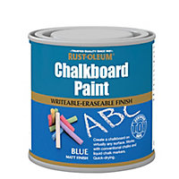 Rust-Oleum Blue Matt Chalkboard paint, 0.25L